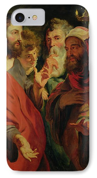 Christ Instructing Nicodemus Phone Case by Jacob Jordaens