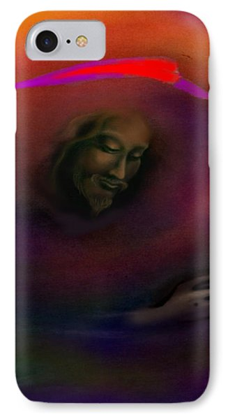 IPhone Case featuring the painting Christ by Kevin Middleton