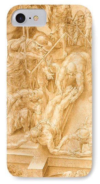 Christ Nailed To The Cross IPhone Case by Lelio Orsi da Novellara