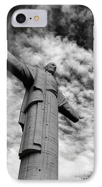 Christ Of The Concordia Cochabamba IPhone Case by James Brunker