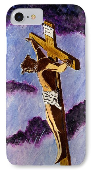 Christ On The Cross Phone Case by Michael Vigliotti