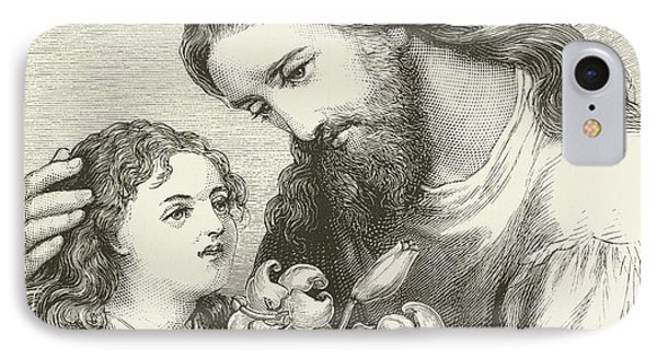 Christ Receiving A Child IPhone Case by English School