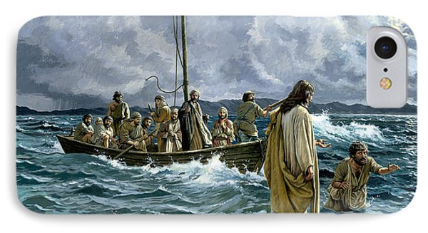 Christ Walking On The Sea Of Galilee IPhone Case