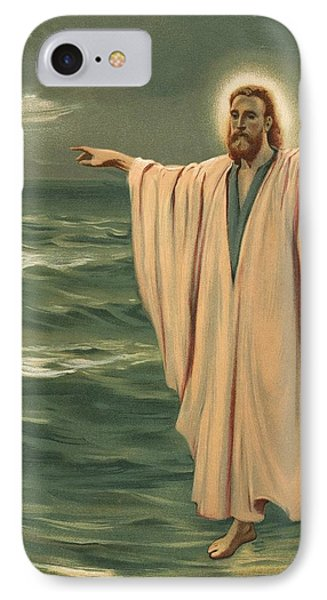 Christ Walking On The Sea IPhone Case by Philip Richard Morris