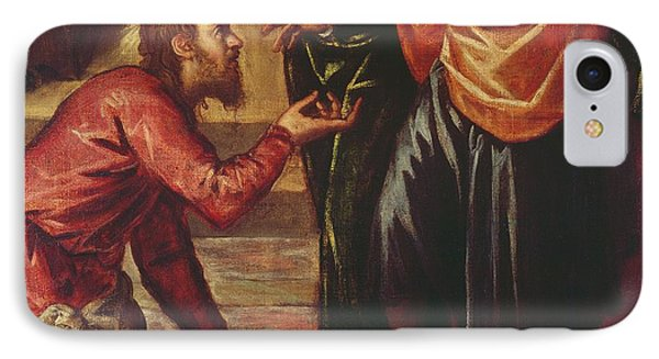 Christ Washing The Feet Of The Disciples IPhone Case by Tintoretto
