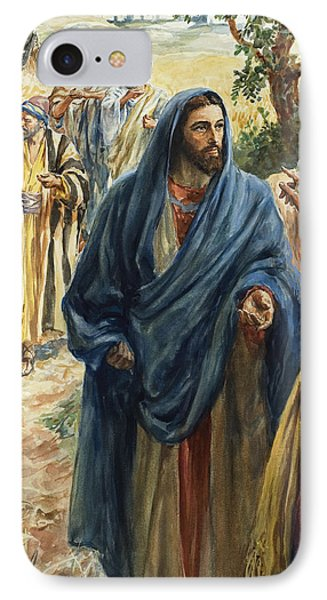 Christ With His Disciples IPhone Case by Henry Coller