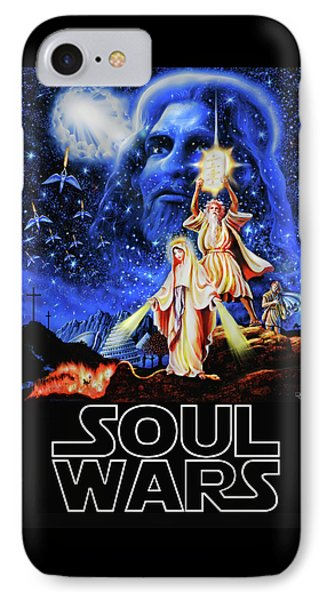 IPhone Case featuring the painting Christian Star Wars Parody - Soul Wars by Dave Luebbert