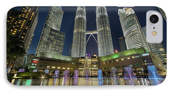 Christmas At Klcc Phone Case by David Gn