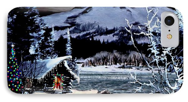 Christmas At The Lake V2 IPhone Case by Ron Chambers