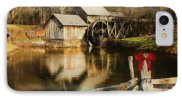 IPhone Case featuring the photograph Christmas At The Mill by Darren Fisher
