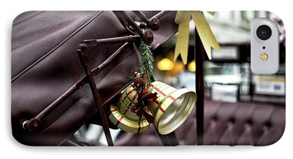 Christmas Bell On The Carriage IPhone Case by John Rizzuto