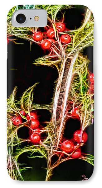 Christmas Berries IPhone Case by EricaMaxine  Price