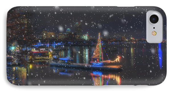 Christmas Boat On The Charles River - Boston IPhone Case by Joann Vitali