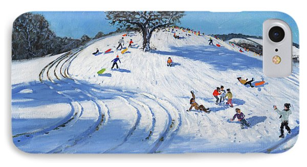 Christmas, Burley Lane, Derby IPhone Case by Andrew Macara