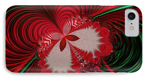 Christmas Butterfly Fractal 63 Phone Case by Rose Santuci-Sofranko