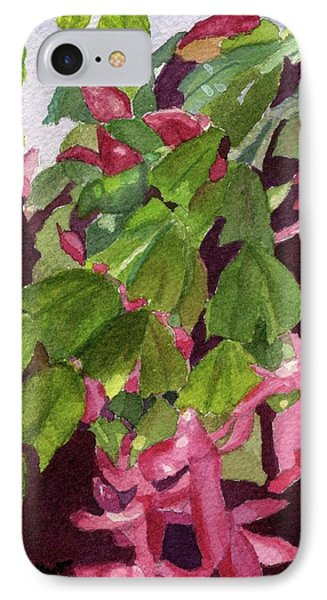 IPhone Case featuring the painting Christmas Cactus by Lynne Reichhart