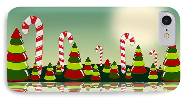 Christmas Candy Island IPhone Case by Anastasiya Malakhova