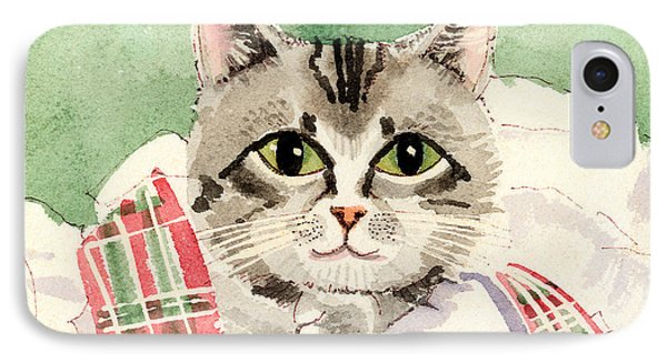 Christmas Cat Phone Case by Arline Wagner