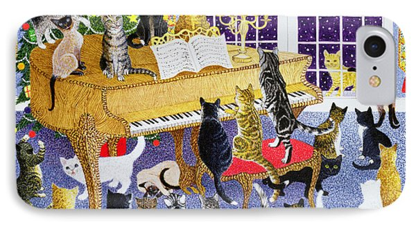 Christmas Chorus IPhone Case by Pat Scott
