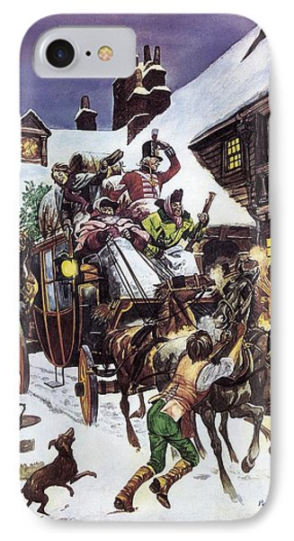 Christmas Day In The Eighteenth Century IPhone Case by Peter Jackson