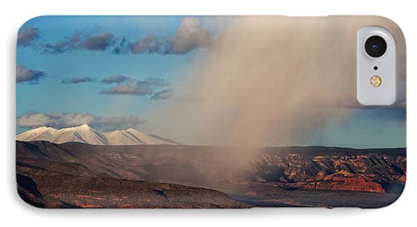 IPhone Case featuring the photograph Christmas Day Snow Mix San Francisco Peaks by Ron Chilston