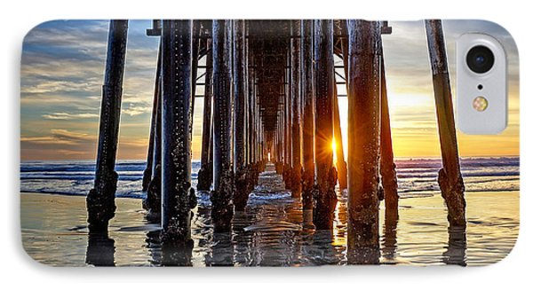 Christmas Eve At The Pier IPhone Case by Ann Patterson