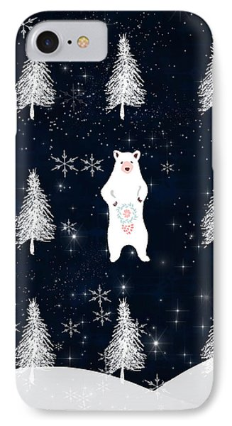 Christmas Eve Bear IPhone Case by Amanda Lakey