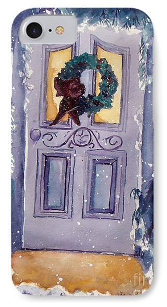 Christmas Eve IPhone Case by Jan Bennicoff