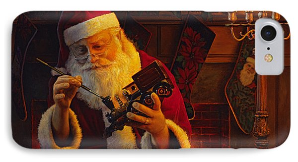 Christmas Eve Touch Up IPhone Case by Greg Olsen