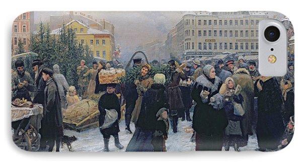 Christmas Fair  Phone Case by Heinrich Matvejevich Maniser