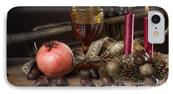 Christmas Fall Still-life IPhone Case by Carlos Caetano