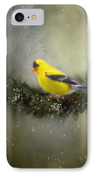Christmas Finch IPhone Case