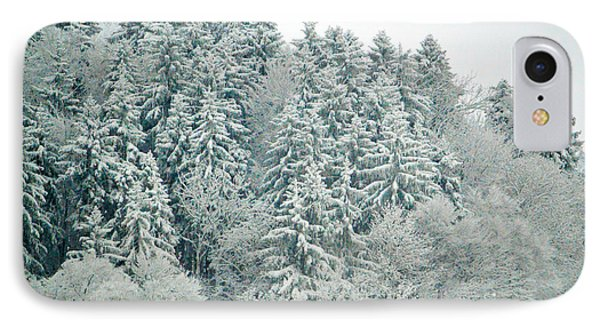 IPhone Case featuring the photograph Christmas Forest - Winter In Switzerland by Susanne Van Hulst