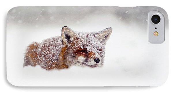 Christmas Fox IPhone Case by Roeselien Raimond