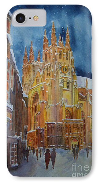 IPhone Case featuring the painting Christmas In Canterbury by Beatrice Cloake