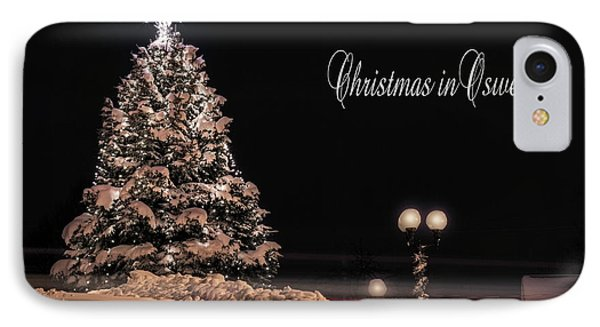 IPhone Case featuring the photograph Christmas In Oswego by Everet Regal