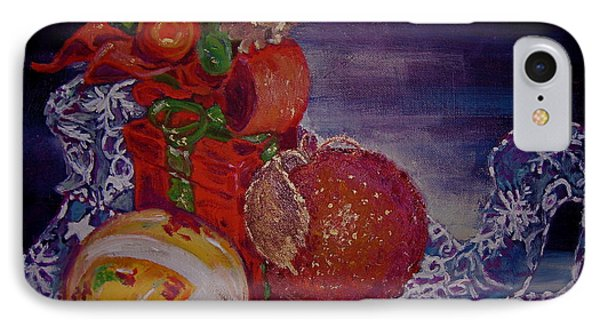 IPhone Case featuring the painting Christmas by Julie Todd-Cundiff