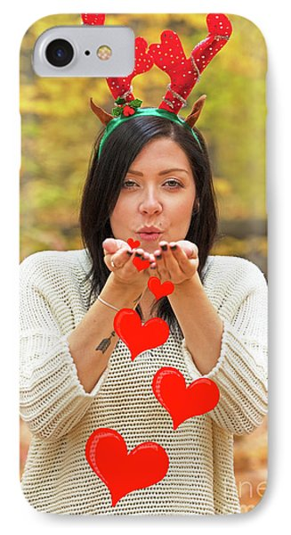 IPhone Case featuring the photograph Christmas Kisses.. by Nina Stavlund