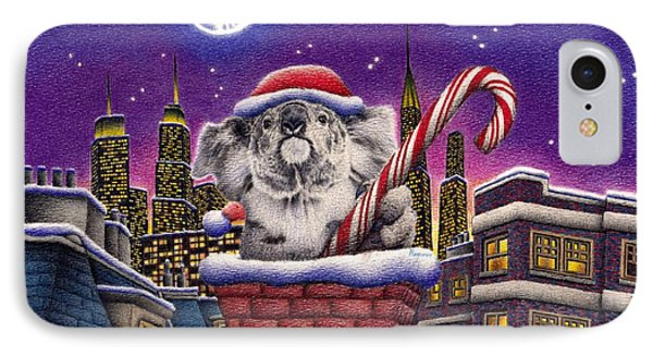 Christmas Koala In Chimney IPhone 7 Case