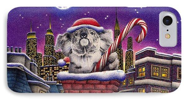 Christmas Koala In Chimney IPhone 7 Case by Remrov