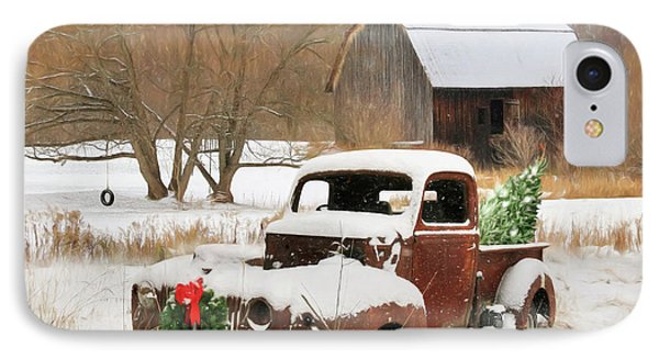 Christmas Lawn Ornament IPhone Case by Lori Deiter