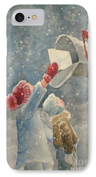 Christmas Letter IPhone Case by Marilyn Jacobson