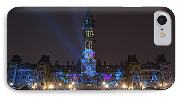 IPhone Case featuring the photograph Christmas Lights Across Canada.. by Nina Stavlund