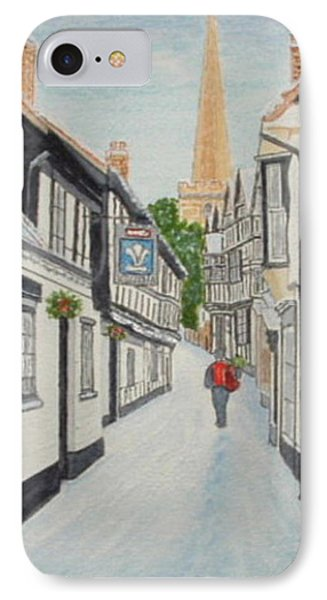 'christmas Mail', Ledbury, Herefordshire Phone Case by Peter Farrow