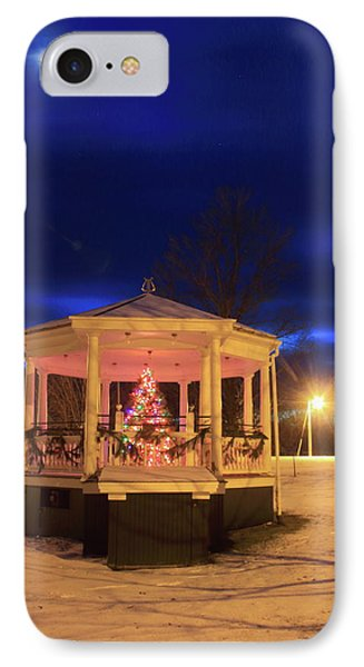 Christmas Moon Over Town Common IPhone Case by John Burk