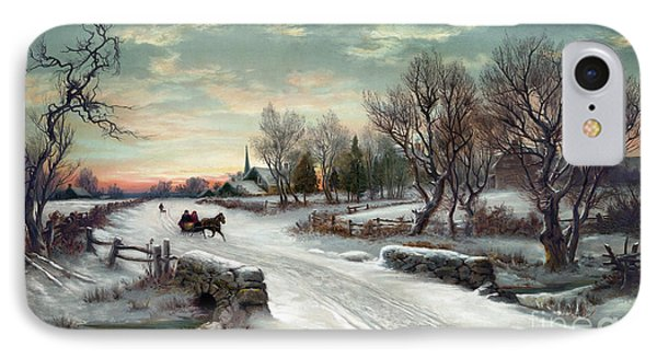 Christmas Morn, C1885 Phone Case by Granger