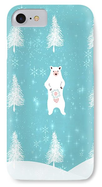 Christmas Morning Bear IPhone Case by Amanda Lakey
