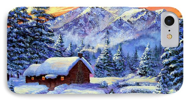 Christmas Morning IPhone Case by David Lloyd Glover
