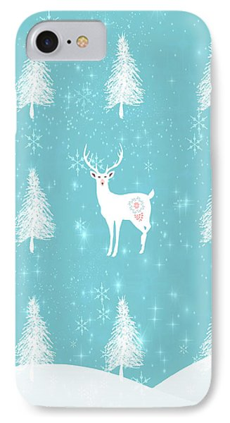 Christmas Morning Stag IPhone Case by Amanda Lakey
