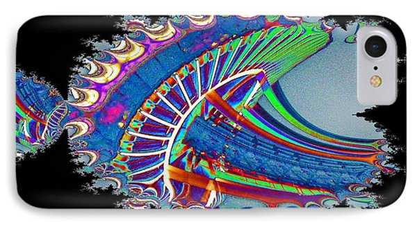Christmas Needle In Fractal IPhone Case by Tim Allen